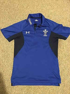 Under Armour WRU Wales Rugby Official Team Polo T Shirt S