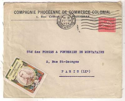 26360 FRANCE 1928 cover with Federation Nationale des Anciennes Coloniaux label