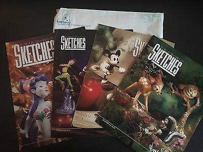 four Sketches Walt Disney Collectors Society magazines 1993-94 reference guides