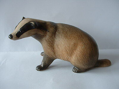 Purbeck Pottery Wildlife Series Animal Figurine  -  Badger