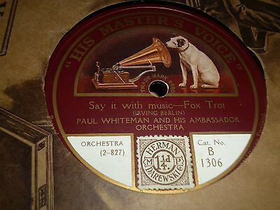 """Collection Job lot of 7x DANCE BAND 10"""" 78RPM Gramophone Records 32/14"""