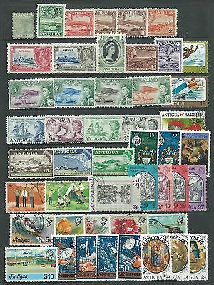Antigua 48 Stamps Mint And Used.up $10.