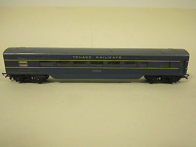 Triang R131. 1:76 OO/ HO H0 scale Blue Transcontinental Saloon Coach. VG NO BOX
