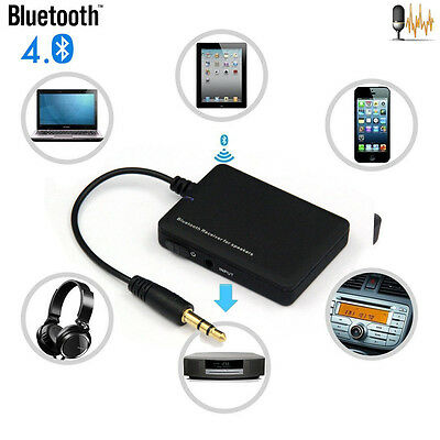 Wireless Bluetooth 4.0 Car Audio Stereo Music Receiver 3.5mm Aux Adapter A2DP UK