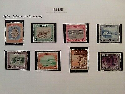 Stamps Used Mm Niue 1950 Definitives
