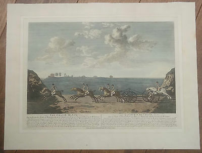 The Chaise Match, Newmarket Heath, Large Victorian Engraving