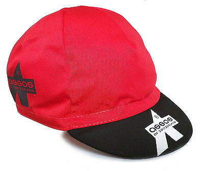 ASSOS SUMMER BIKE BICYCLES CYCLING TEAM BIKE CAP - Made in Italy -Red