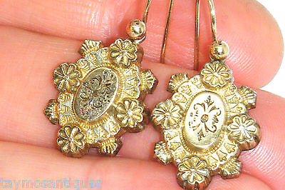 9k Gold 9ct Gold Antique Victorian earrings