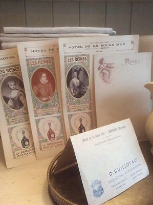 ~*Collection Vintage French Hotel Menu/Place Cards*~