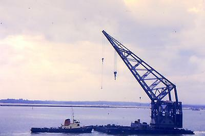 Vintage 35Mm Colour Shipping/ Slides From 1960/69 Floating Crane At Southampton