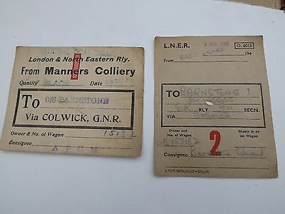 LNER Wagon labels