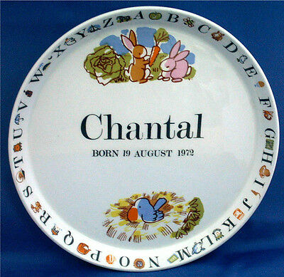 CHANTAL ? BORN 19th AUG 1972 ? LOVE ANIMALS & BIRDS? THIS IS THE PLATE FOR YOU