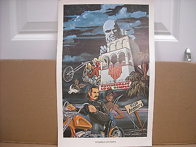 Vintage Original Dave Mann Psychedelic Love Temple Poster - 15.5 X 10