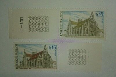 Timbres France N°1582 Differents.neufs Gomme Xx.tb