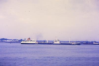 Vintage 35Mm Colour Shipping/ Slides From 1960/69  Unknown Ship Southampton