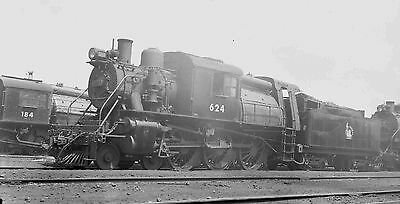 5Y247 Negative/photo 1945 Jeresey Central Crr Nj Railroad Engine 624 Communipaw