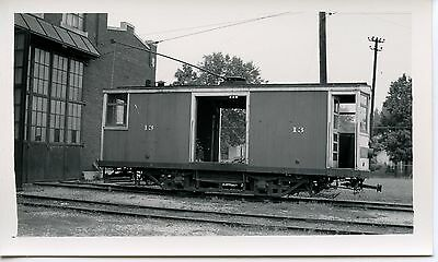 6E843 RP 1930/40s INDIANA SERVICE  TRACTION LIGHT CORP RAILWAY CAR #13