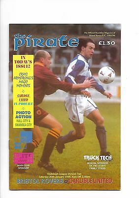 Bristol Rovers  v  Carlisle United, 20th January 1996