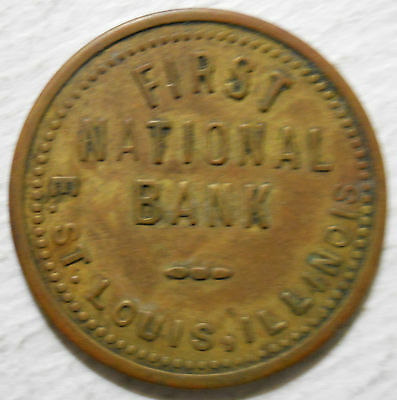 First National Bank (East St. Louis,  Illinois) parking token - IL3250H