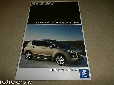 Peugeot 3008 Crossover Preview Brochure Collectors condition