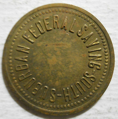 South Suburban Federal Savings (Harvey, Illinois) parking token - IL3385G