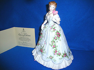 Royal Worcester Figurine Queen Of Hearts Excellent Condition