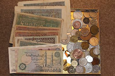 Nice collection of Banknotes, Coins and Tokens
