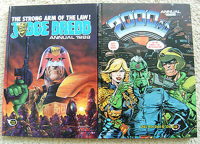 2000Ad +Judge Dredd Annuals Both 1988 Unclipped & In Mint Condition