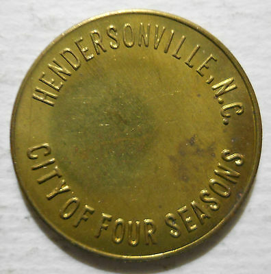 City of Hendersonville (North Carolina) parking token - NC3430C