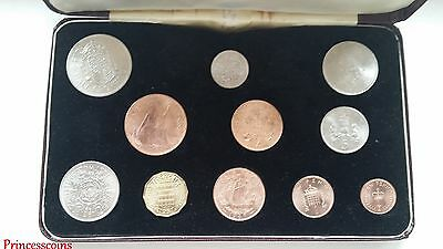 Gb 1968 Specimen 11 Coins Set In Red Case~First And Second Issue