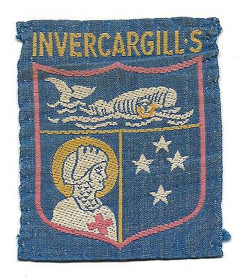 1970 Invercargill S.  Used Scout Badge