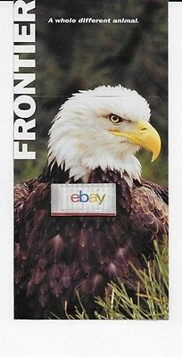 Frontier Airlines Ticket Jacket Bald Eagle Airbus 319/a320 Route Map 2006