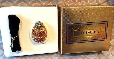 Figural Estee Lauder GOLDEN PINEAPPLE Solid Perfume Compact KNOWING
