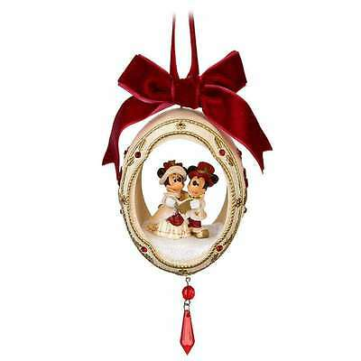 Authentic Disney Parks Victorian Christmas Ornament Holiday Egg New With Tags