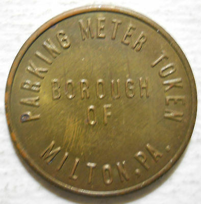 Borough of Milton (Pennsylvania) parking token - PA3635A
