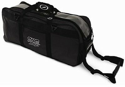 Storm 3 Ball Tournament Tote Bowling Bag with tow wheels Color Black