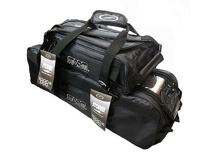 Storm 3 Ball Tournament Tote Bowling Bag With Shoe Pocket & Tow Wheels Black