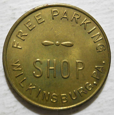 Wilkinsburg, Pennsylvania parking token - PA3987C