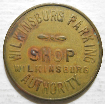 Wilkinsburg, Pennsylvania parking token - PA3987E