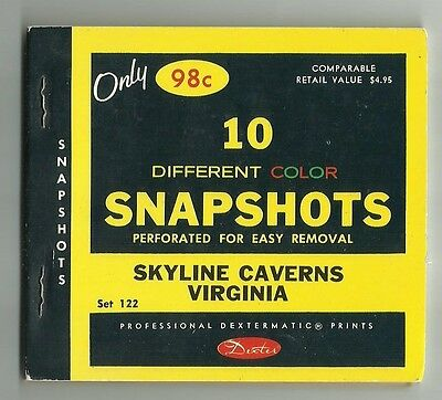 10 Different Color Snapshots of Skyline Caverns Virginia