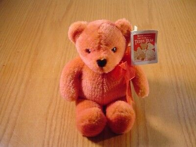 Talking 8 Inch Pink Teddy Bear 100 Year Anniversary Roosevelt Stuffed Animal