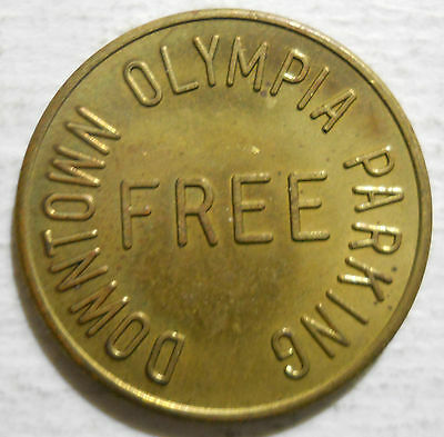 Downtown Olympia (Washington) parking token - WA3600A