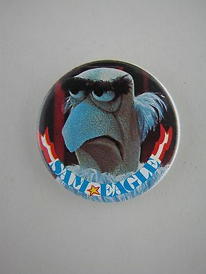 Sam the Eagle Badge Button Pinback Pin Muppets Vintage 1978