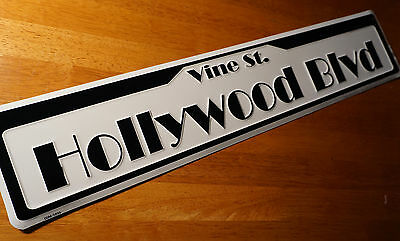 HOLLYWOOD BLVD VINE STREET ROAD SIGN Movie Celebrity Home Theater Decor Sign NEW