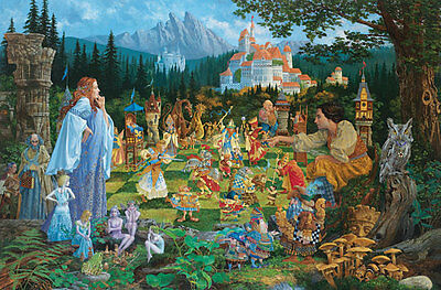 """The Chess Match"" James Christensen Limited Edition Fine Art Giclee Print"