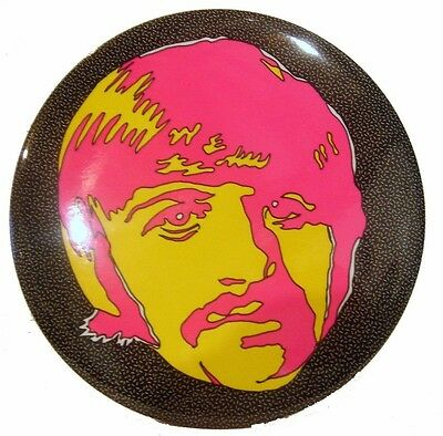 """Psychedelic Beatles Ringo Starr SMALL 1 1/4"""" Diameter Pin-Back Button"""