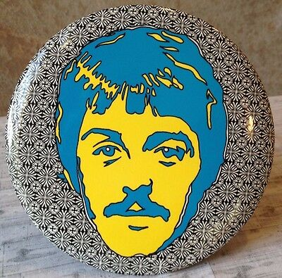"""Psychedelic Beatles Paul McCartney SMALL 1 1/4"""" Diameter Pin-Back Button"""