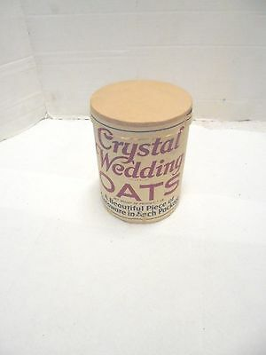 vintage oatmeal one pound container crystal wedding oats quaker kitchen decor