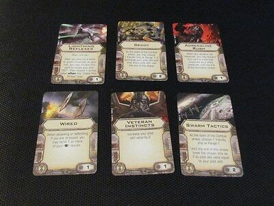 Star Wars Elite Pilot Talent Upgrade cards X-Wing Miniature (A1)