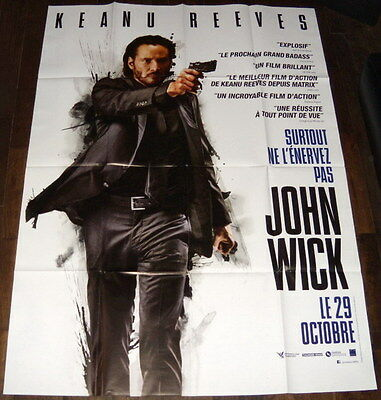 JOHN WiCK Keanu Reeves  Michael Nyqvist LARGE French POSTER